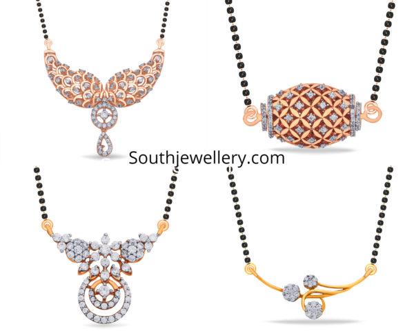 diamond pendants for black beads mangalsutra chains