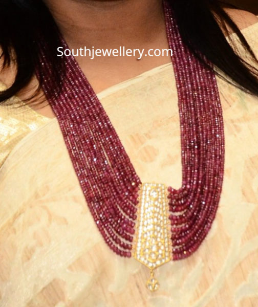multistrand ruby necklace