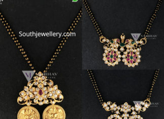 nallapusalu with diamond pendant