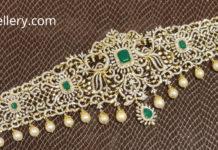 peacock diamond emerald vaddanam