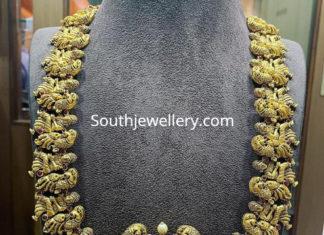 peacock nakshi gold haram