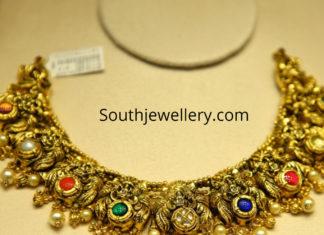peacock nakshi necklace designs
