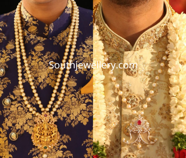pearl necklace for indian groom