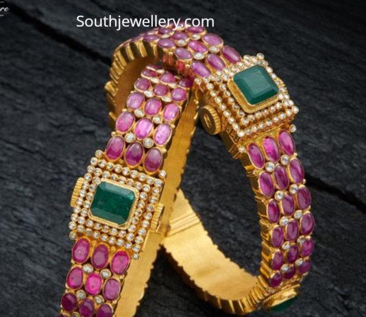 309b0c9f2e4fe Ruby Bangles latest jewelry designs - Jewellery Designs