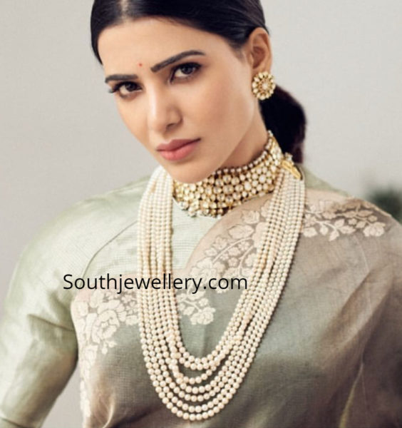 samantha akkineni in kishandas jewellery