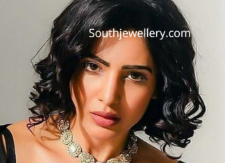 samantha akkineni polki diamond necklace