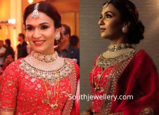soundarya rajinikanth marriage reception jewellery