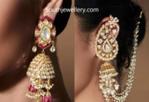 statement polki diamond jhumkas