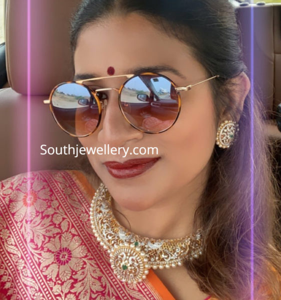 sushmita konidela diamond necklace