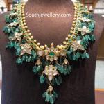 emerald beads guttapusalu necklace