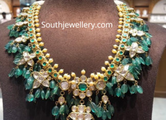 emerald beads guttapusalu necklace