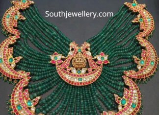 emerald peacock necklace