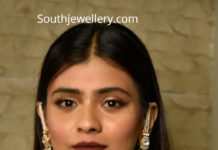 hebah patel polki earrings