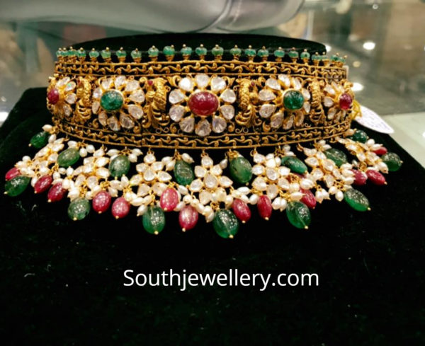 latest indian gold choker designs