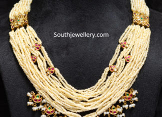 multi strand indian pearl necklace