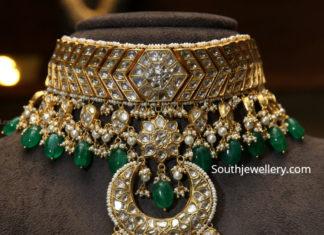 polki diamond choker tyaani jewellery