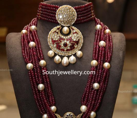 ruby beads choker and haram