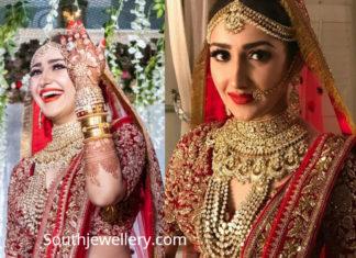 sayyeshaa wedding jewellery