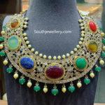 uncut diamond navrathan necklace