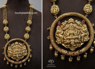 antique gold lakshmi haram