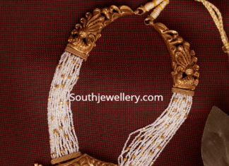 antique gold pearl necklace