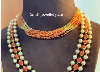 coral beads necklace