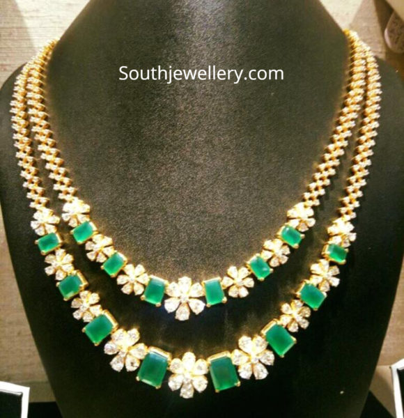 cz emerald necklace