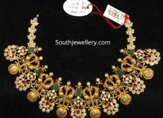 cz peacock necklace