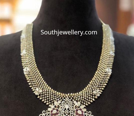 diamond haram with pendanty