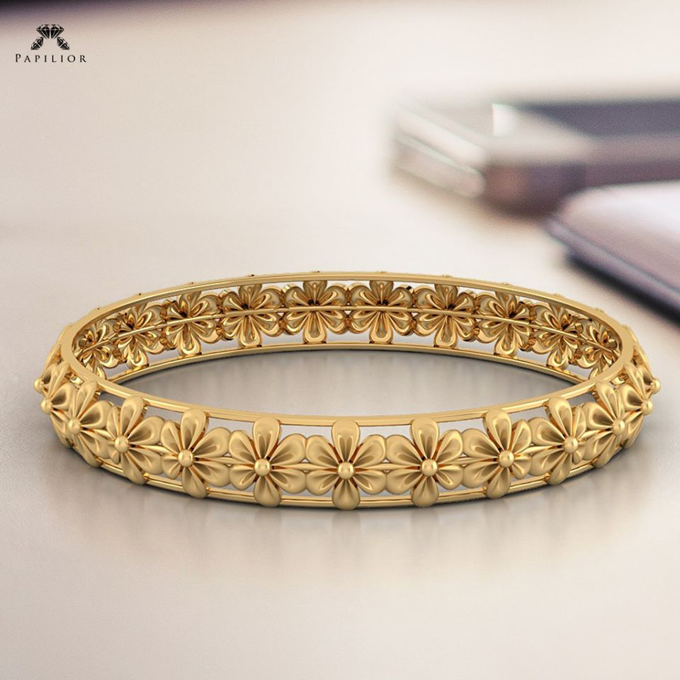 Gold Bangles Designs By Papilior Jewellery Designs