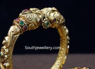 gold kada bangles