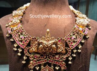 kundan peacock necklace