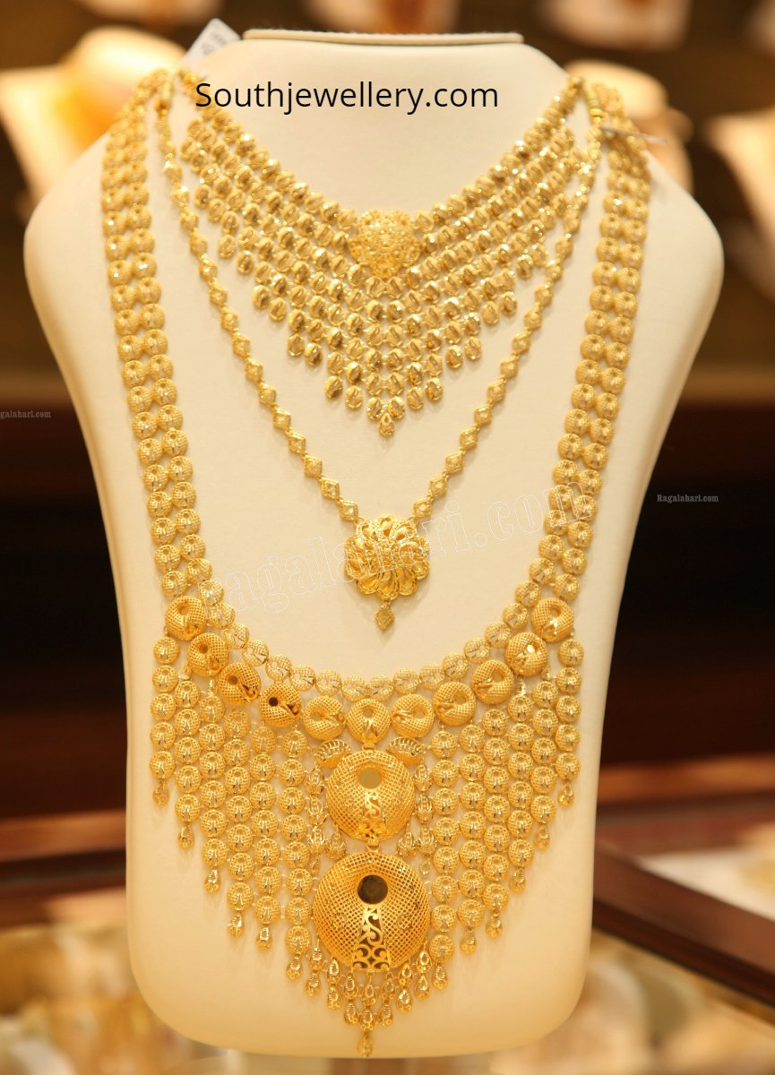Gold Necklace And Haram Set By Malabar Gold And Diamonds Indian