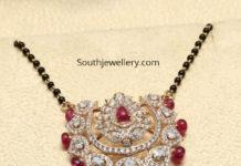 nallapusalu chain with diamond pendant