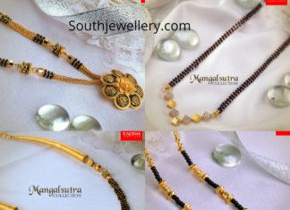 latest nallapusalu necklace designs 2019