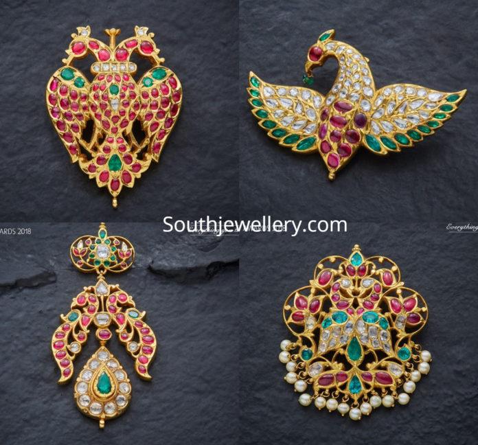 peacock pendants