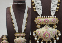 pearl haram with pendant