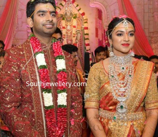 ramoji rao granddaughter sohana marriage jewellery
