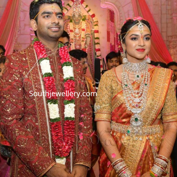 ramoji rao granddaughter sohana marriage jewellery