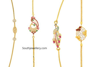 thali chain designs with side pendants 2019