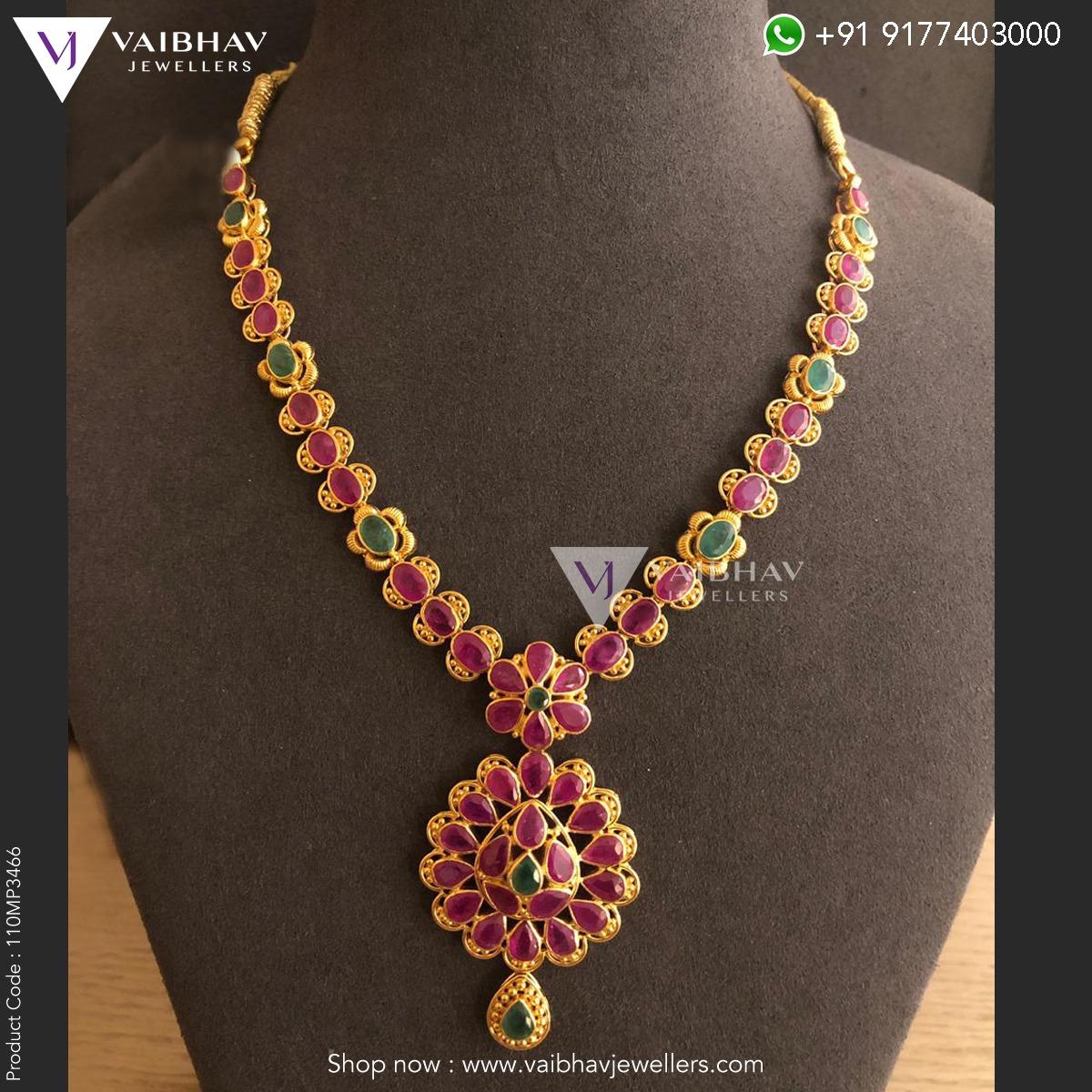 c872022de779a Ruby necklace designs by Vaibhav - Jewellery Designs