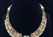 antique gold pacchi necklace
