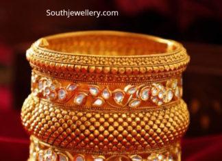 antique gold broad bangle