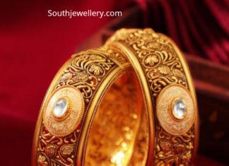 antique gold nakshi bangles