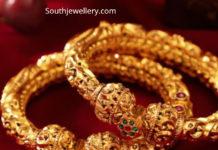 antique gold nakshi kadas