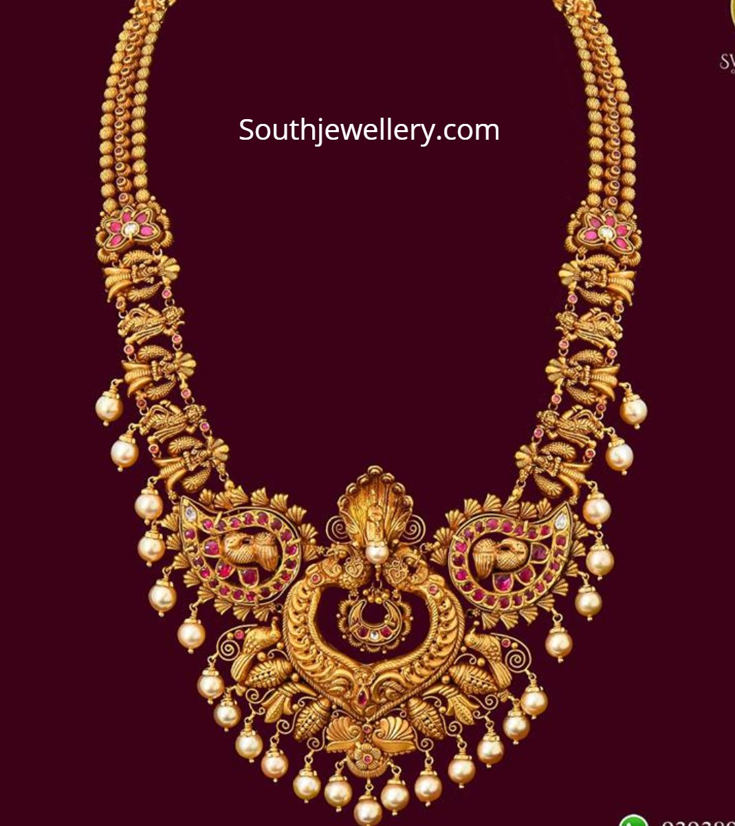 Traditional Antique Gold Haram Indian Jewellery Designs