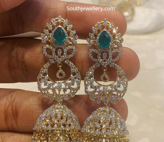 70c97c8218c48 diamond jhumkas latest jewelry designs - Page 37 of 38 - Jewellery ...
