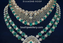 diamond emerald necklace haram