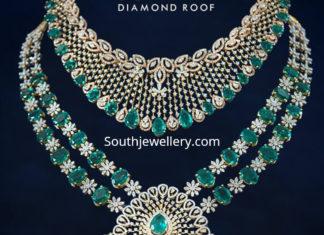 diamond emerald necklace haram