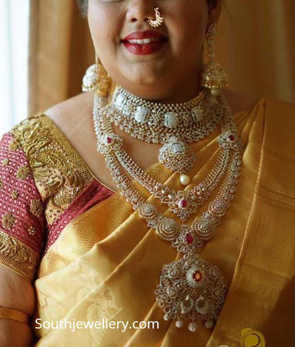 Bridal Diamond Jewellery Set By Sujana Jewellers Indian Jewellery Designs